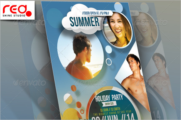 Summer Holiday Party Flyer Template