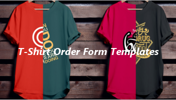 T-shirt order form templates
