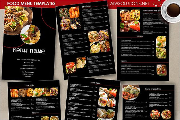 Take Away Menu PSD Design