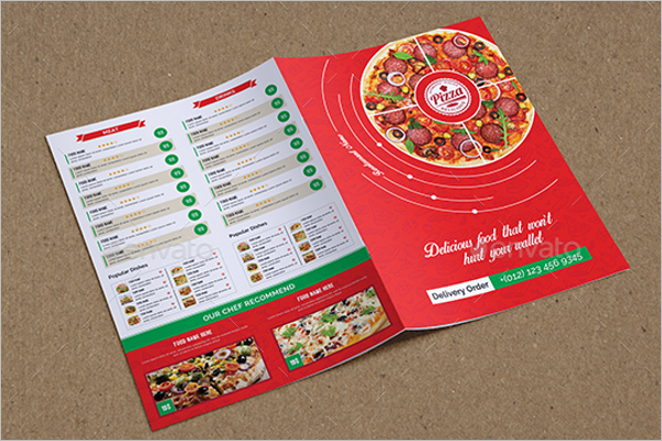 Take Out Menu Maker Design