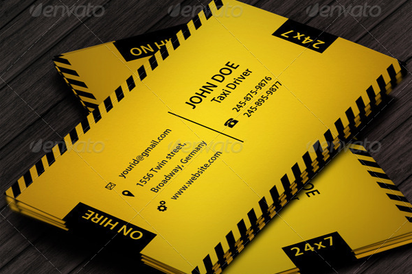 taxi business cards templates - Taxi Business Cards