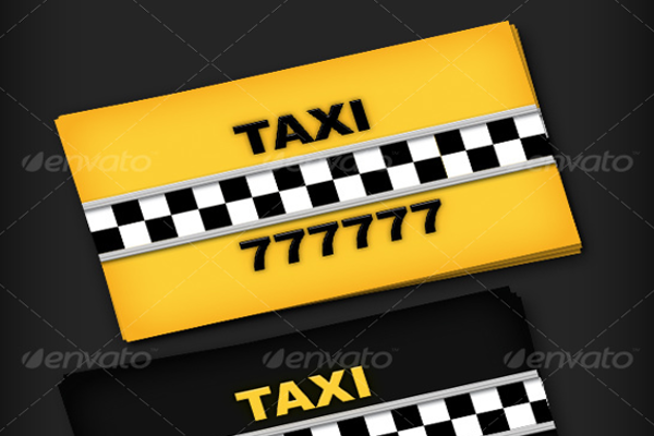 Taxi Driver Business Cards