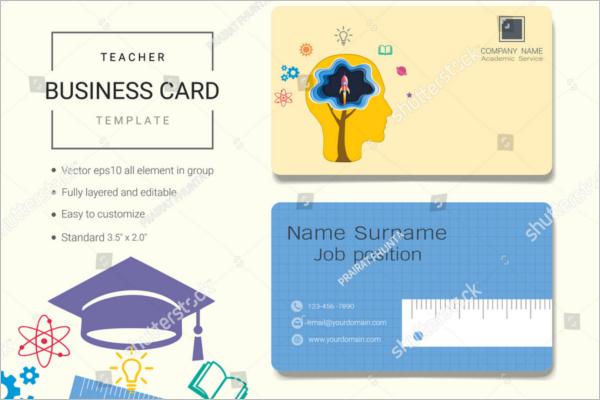 Teacher Business Card Template Free