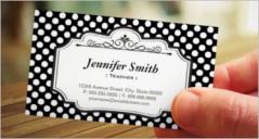 18+ Teacher Business Card Templates