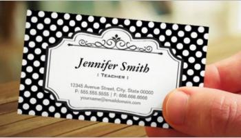 Teacher Business Card Templates