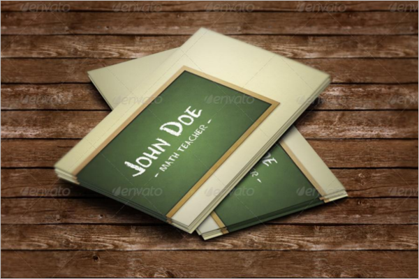 15 teacher business card templates free psd designs for Teacher business cards templates free