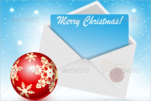 Toy Christmas Envelope Template