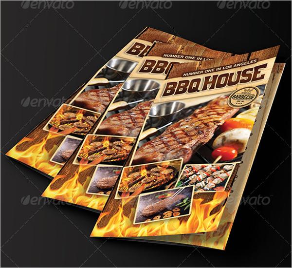 Tri-Fold BBQ Menu Design
