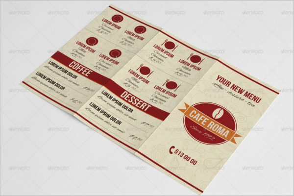 Trifold Coffee Menu Template