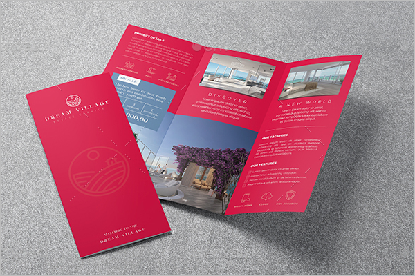 Trifold Real Estate Flyer Template