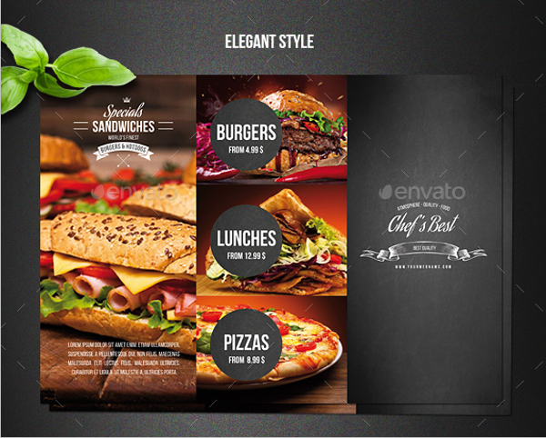 Trifold Restaurant Menu Design