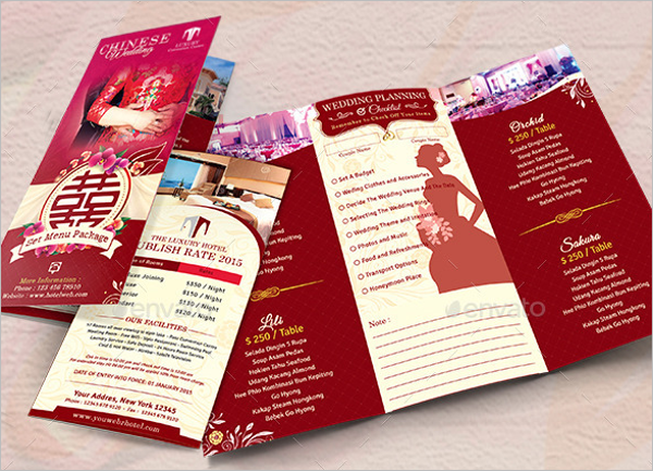 Trifold Wedding Menu Design