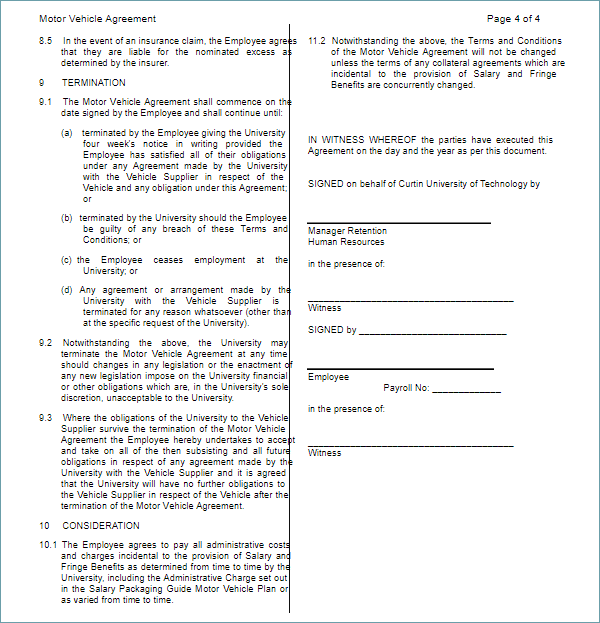 Truck Lease Agreement