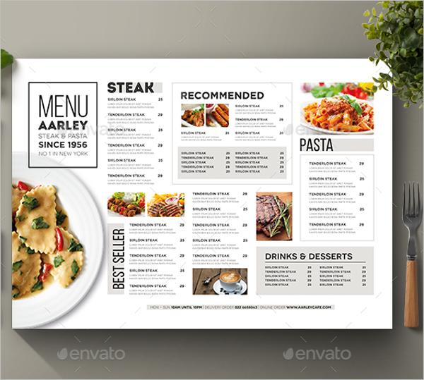 Typography Food Menu Template