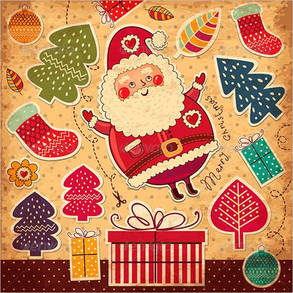Vector Christmas Card Template