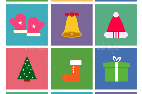 Vector Flat Christmas Icon Design