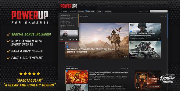 Video Game Theme For WordPress