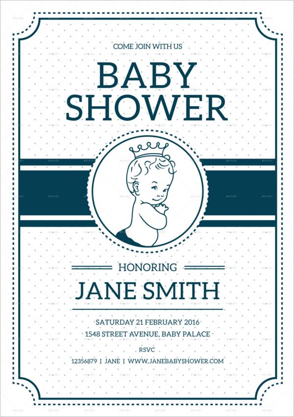 Vintage Baby Shower Flyer