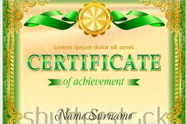 Vintage Certificate Model