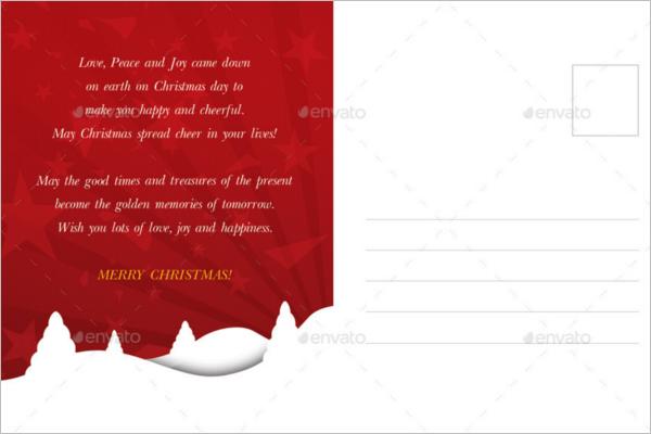 Vintage Christmas Postcard Template