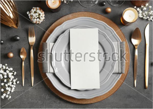 Vintage Dinner Menu Template