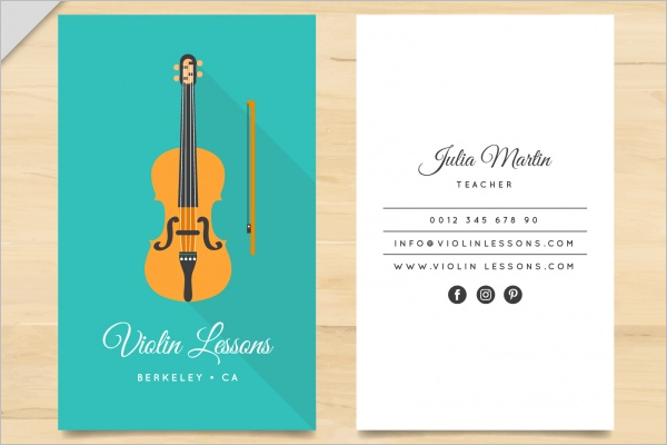 Violin teacher card