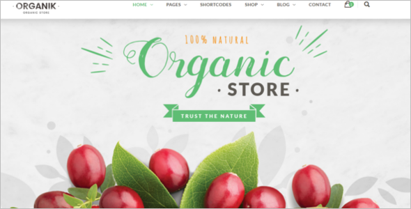 Website Template for Agriculture