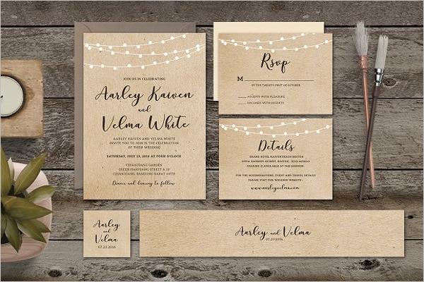 Wedding Invitation Set Design
