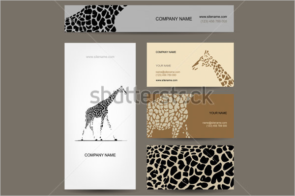 Wild Animal Business Card Template