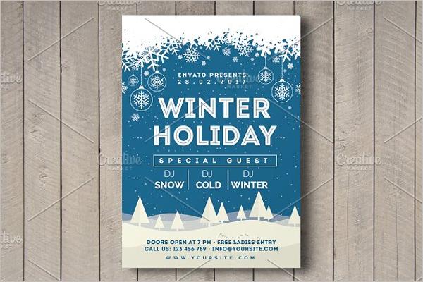 Winter Holiday Flyer Design