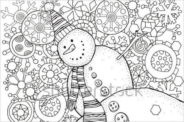 Winter Scenes Coloring page