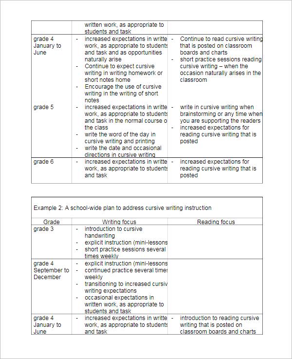 Writing Instruction Worksheet