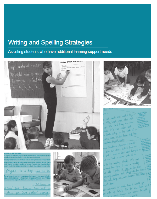 Writing & Spelling Strategies Template