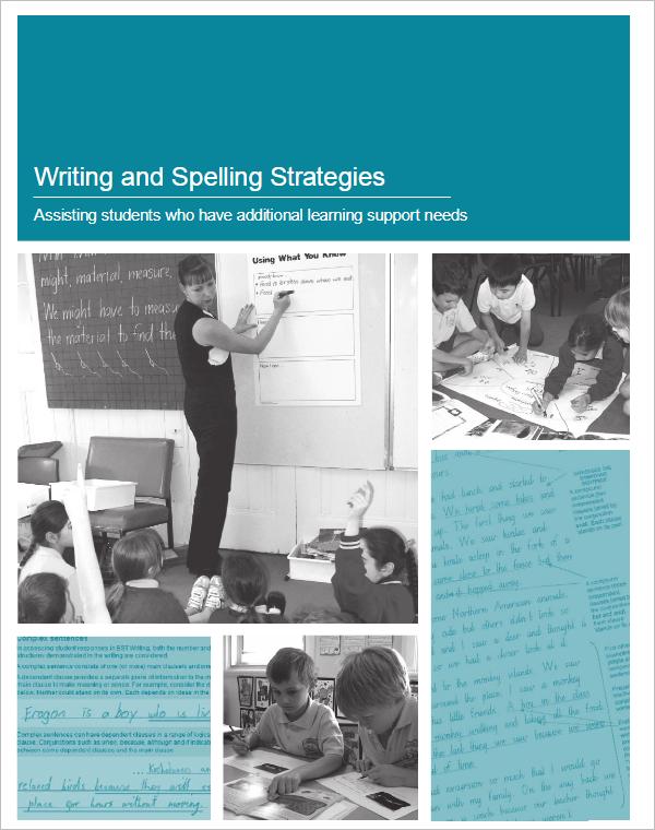 Writing & Spelling Strategies Template