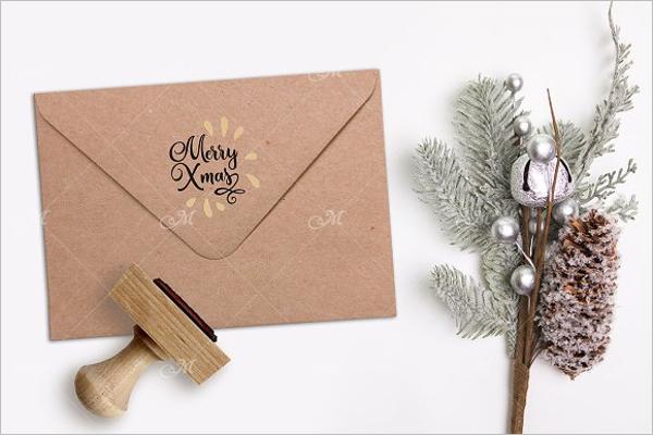 Xmas Christmas Envelope Template