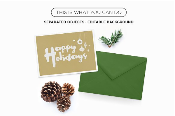 Xmas Greeting Card Mockup Design