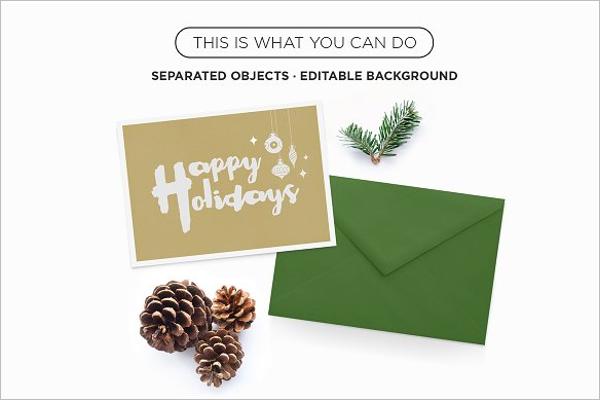 Xmas Greeting Card Mockup Design