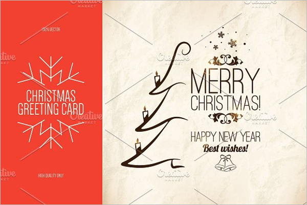Xmas Invitation Card Template