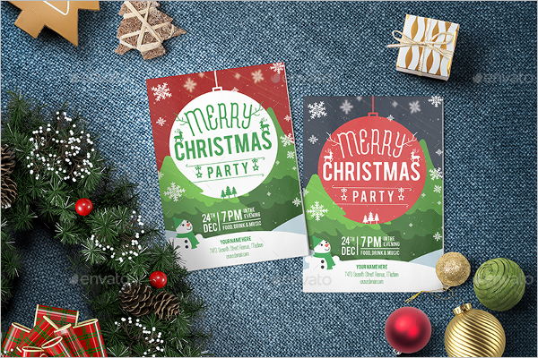 Xmas Invitation Design Idea