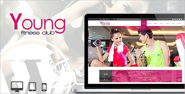 Young Fitness Website Theme