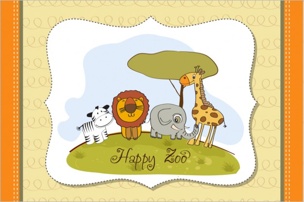 Zoo Business Card Template Word