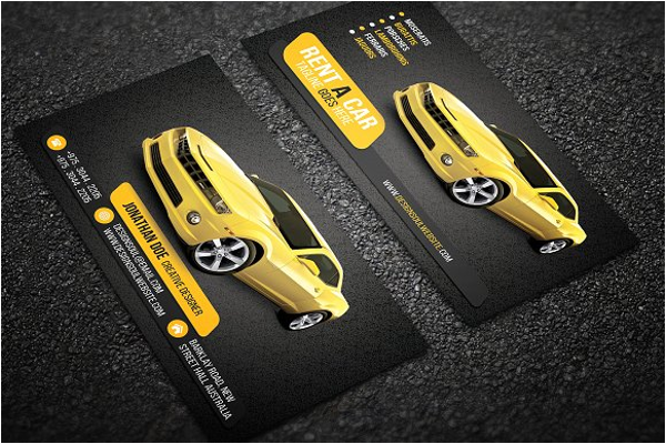 car business card template psd