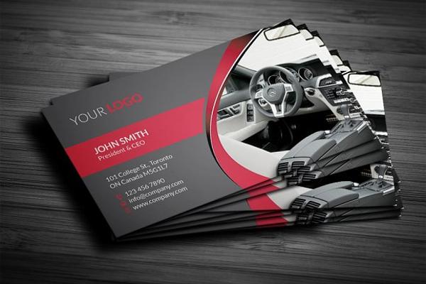car business card template
