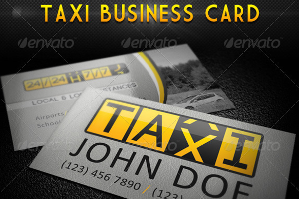 taxi business card designs