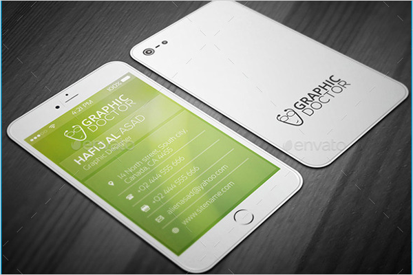 Iphone Business Card Template Gallery Business Cards Ideas - Iphone business card template free