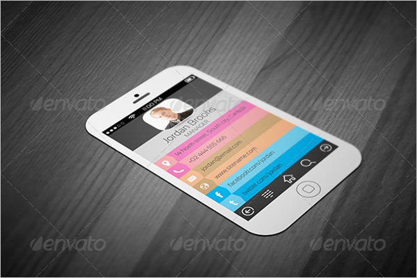 20 iphone business card templates free psd designs