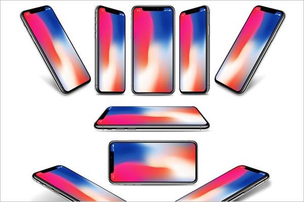 iPhone X Mockup Bundle
