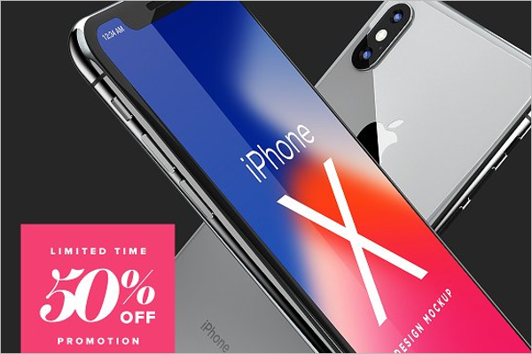 iPhone X Mockup Vector