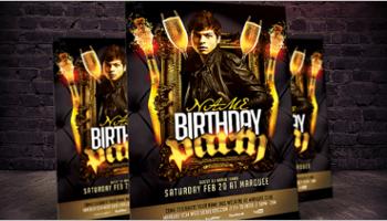 birthday party flyer templates