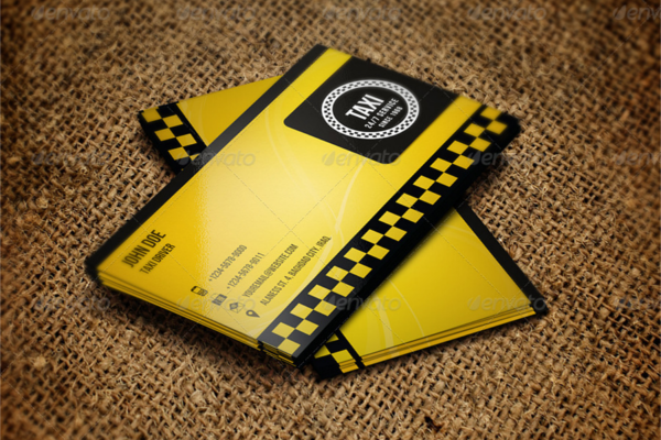 sample taxi business card